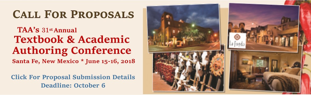 2018 TAA Confernce Call for Proposals