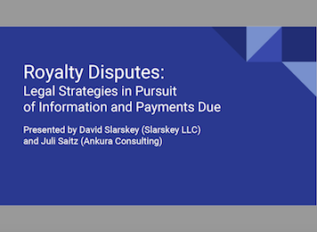 Royalty Disputes webinar
