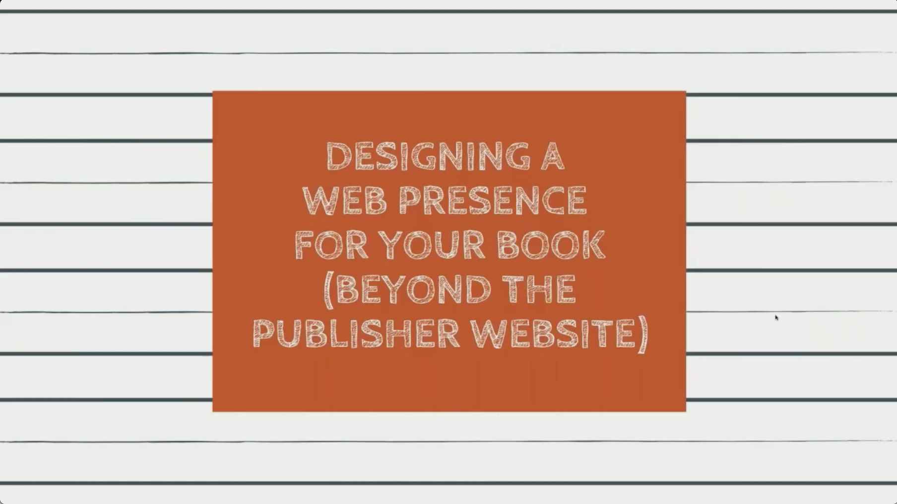 Designing a Web Presence for Your Book