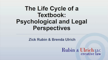 Lifecycle of a textbook
