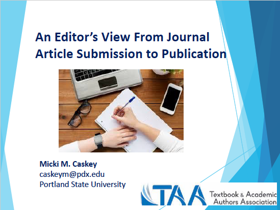 Editors View From Journal Article Submission to Publication
