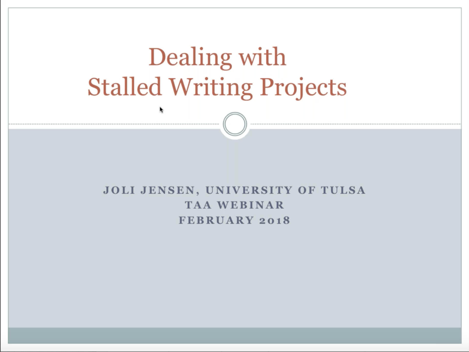 Get Your Stalled Writing Project Back on Track