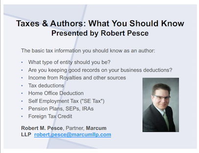 Taxes and Authors